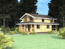 изображение проекта дома Проект дома из клееного бруса Отдых