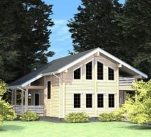 изображение проекта дома Проект дома из клееного бруса Гришино