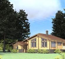 изображение проекта дома Проект дома из кленого бруса Горки 8