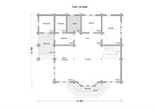 изображение проекта дома Проект дома из клееного бруса Софьино