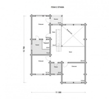 изображение проекта дома Проект дома из клееного бруса Борисово