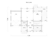 изображение проекта дома Проект дома из клееного бруса Искра