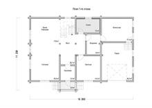 изображение проекта дома Проект дома из клееного бруса Козино