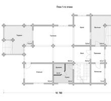 изображение проекта дома Проект дома из клееного бруса София