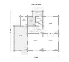 изображение проекта дома Проект дома из клееного бруса Юдино