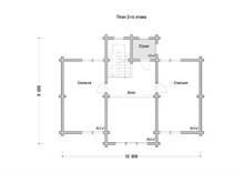 изображение проекта дома Проект дома из клееного бруса Толстиково