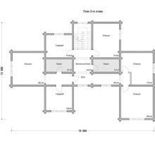 изображение проекта дома Проект дома из клееного бруса РЗ-58