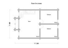 изображение проекта дома Проект дома из клееного бруса Дачный