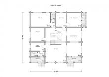 изображение проекта дома Проект дома из клееного бруса Валентиновка 3