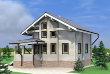 изображение проекта дома Проект дома из клееного бруса Бережки