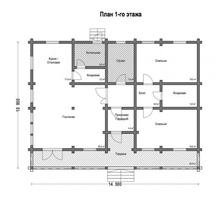 изображение проекта дома Проект дома из клееного бруса Дубна
