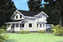 изображение проекта дома Проект дома из клееного бруса Гальнево