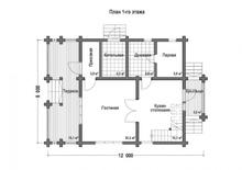 изображение проекта дома Проект дома из клееного бруса Гайдпарк