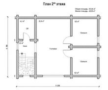 изображение проекта дома Проект дома из клееного бруса Ивановское-2