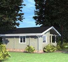 изображение проекта дома Проект дома из клееного бруса Калина