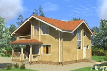 изображение проекта дома Проект дома из клееного бруса Калужское