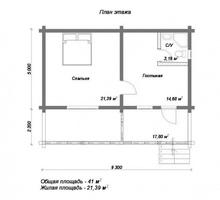 изображение проекта дома Проект дома из клееного бруса Корчманово