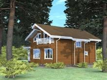 изображение проекта дома Проект дома из клееного бруса Кратово-3