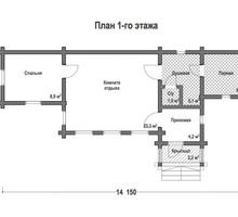 изображение проекта дома Проект дома из клееного бруса Кратово-4