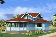 изображение проекта дома Проект дома из клееного бруса Крест