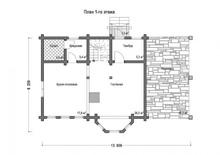 изображение проекта дома Проект дома из клееного бруса Литл Хаус