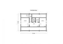 изображение проекта дома Проект дома из клееного бруса Луговое