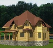 изображение проекта дома Проект дома из клееного бруса Магнолия