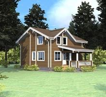 изображение проекта дома Проект дома из клееного бруса Нефтино