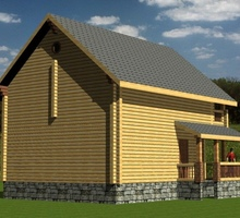 изображение проекта дома Проект дома из клееного бруса Николина Гора