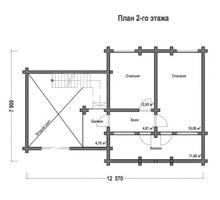 изображение проекта дома Проект дома из клееного бруса Прохорово 2
