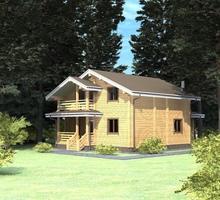 изображение проекта дома Проект дома из клееного бруса Раменье