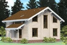 изображение проекта дома Проект дома из клееного бруса РЗ-187