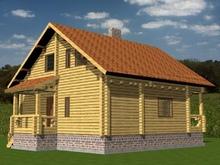 изображение проекта дома Проект дома из клееного бруса Широкое