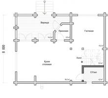 изображение проекта дома Проект дома из клееного бруса Солнечное Шале
