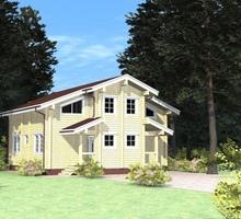 изображение проекта дома Проект дома из клееного бруса Тиликтино