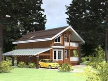изображение проекта дома Проект дома из клееного бруса Трехгорка