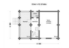 изображение проекта дома Проект дома из клееного бруса Вески