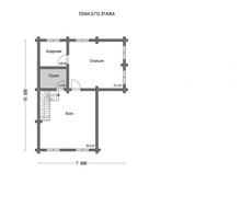 изображение проекта дома Проект дома из клееного бруса Вишневый сад