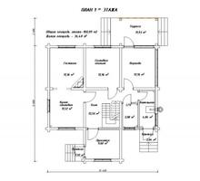 изображение проекта дома Проект дома из клееного бруса Заветы Ильича 2