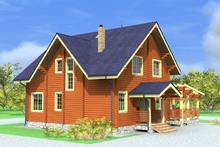 изображение проекта дома Проект дома из клееного бруса Звёздный городок