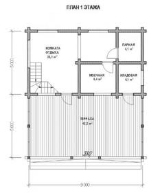 изображение проекта дома Проект дома из клееного бруса Палицы