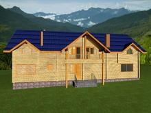 изображение проекта дома Проект дома из клееного бруса Кратово-2