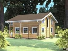 изображение проекта дома Проект дома из клееного бруса Андреево