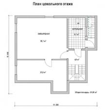 изображение проекта дома Проект дома из клееного бруса Ботвинино