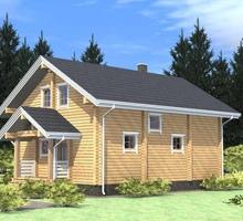 изображение проекта дома Проект дома из клееного бруса Бражниково
