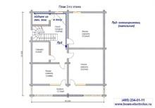 изображение проекта дома Проект дома из клееного бруса Бужаниново