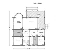 изображение проекта дома Проект дома из клееного бруса Чехов