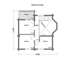 изображение проекта дома Проект дома из клееного бруса Дубрава