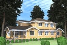 изображение проекта дома Проект дома из клееного бруса Усадьба Freedom