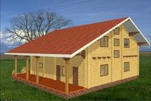 изображение проекта дома Проект дома из клееного бруса Горки-10